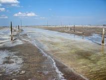 Baskunchak salt extraktion, Ryssland Arkivbilder