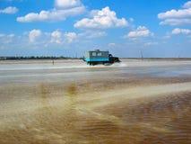 Baskunchak salt extraktion, Ryssland Royaltyfria Foton