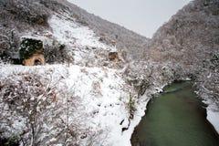 Basla河和塔 免版税图库摄影