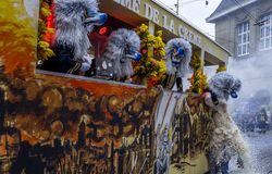 Basler Fasnacht, Carnival of Basel, Basel, Switzerland. Europe stock image