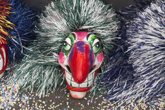 Basel carnival 2016 mask with big red nose Royalty Free Stock Photo