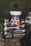 Basel carnival 2016 silver drum and sailor's mask Stock Photos