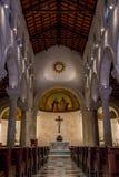 Basílica del anuncio, interior Fotos de archivo libres de regalías