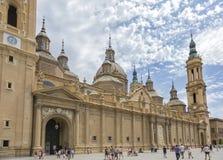 basÃlica Virgen Del Pilar w à ‡ Zaragoza Zdjęcie Royalty Free