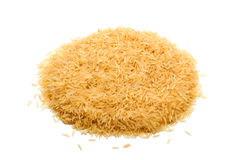 Basmati ρύζι σε ένα άσπρο υπόβαθρο Στοκ Εικόνα