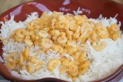 Basmati fried rice with shrimps Stock Photography