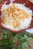 Basmati fried rice with shrimps Stock Images