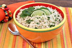 Basmati Rice with Cilantro and Lime Royalty Free Stock Image
