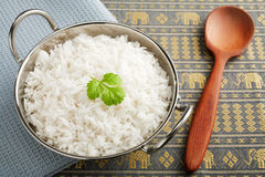 Basmati Rice with Coriander Royalty Free Stock Image
