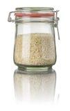 Basmati rice in a jar Royalty Free Stock Photo
