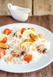 Basmati rice with seafood Stock Photography