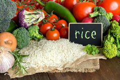 Basmati rice and vegatables Royalty Free Stock Photos