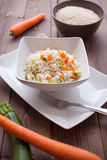 Basmati Rice with veggies Royalty Free Stock Images