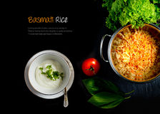 Basmati Rice And Yoghurt Extended Stock Photos