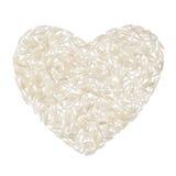 Basmati rijsthart op witte achtergrond wordt geïsoleerdd die royalty-vrije stock fotografie