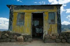 Basotho Iron hut. One of the many forms of Basotho dwellings, built in modern stye with corrugated iron on woodframe Royalty Free Stock Photos