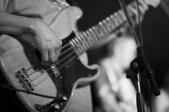 Basowa gitara 01 Zdjęcia Royalty Free