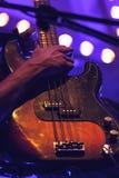 Basowa gitara, żywy hard rock muzyki temat Zdjęcie Royalty Free