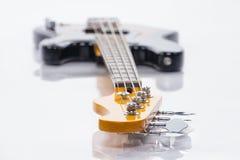 Basowa gitara, zbliżenie strzelanina Zdjęcie Stock