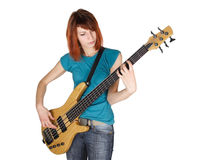 basowej ciała dziewczyny gitary przyrodnia bawić się rudzielec Zdjęcia Royalty Free