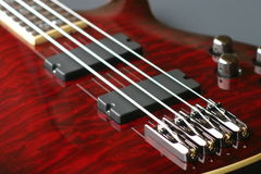 basowej gitary czerwień Obraz Stock