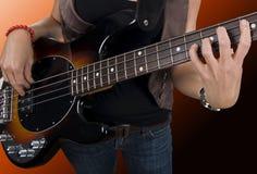 basowej gitary gracz Zdjęcie Royalty Free