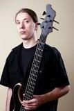 basowej gitary muzyka portret Zdjęcie Stock