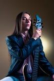 basowej gitary muzyka portret Obraz Stock