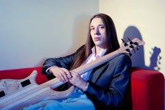 basowej gitary muzyka portret Obrazy Stock