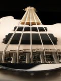Basowej gitary szyi perspektywa obrazy stock
