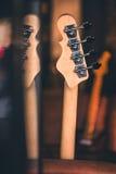 Basowej gitary szyi Wciąż i głowy życie Rocznika skutek Zdjęcie Royalty Free