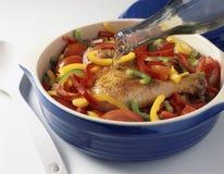Basquaise chicken Stock Photo