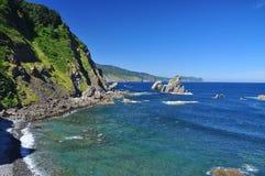 Basque atlantic coast. Euskadi, Spain. The rocky atlantic spanish coast. Euskadi Basque region, Spain Stock Photo