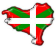 Basque button flag map shape Stock Image