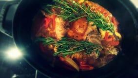 Basque chicken Stock Image