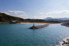 Basque coast of Anglet to Debat Stock Image