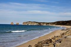 Basque coast of Anglet to Debat Royalty Free Stock Photography