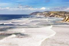 Basque country coastline Stock Photo