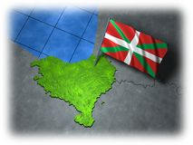 Basque country with its own flag Royalty Free Stock Photography