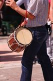 Basque Country musician. A Basque Country musician with a txistu and drum Royalty Free Stock Photography