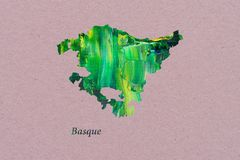 Artistic Map of Basque royalty free illustration