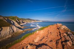 Basque Country. Seaside Basque Country  country side view  Spain Royalty Free Stock Photos
