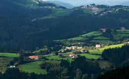 Basque Country valley. A Basque Country valley with forests and countrylife Stock Images
