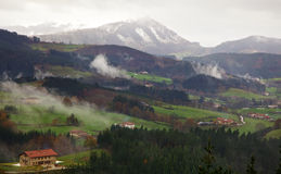 Basque Country valley at autumn Royalty Free Stock Image