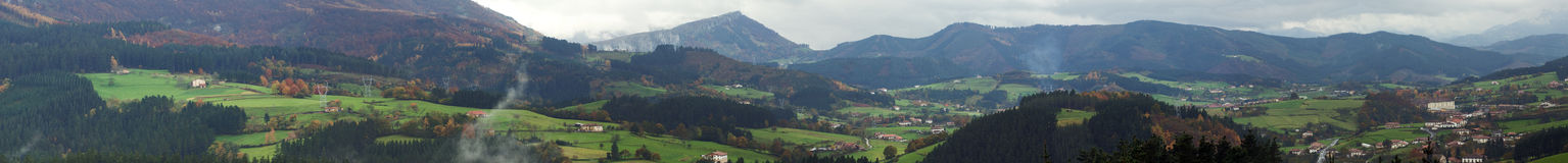 Basque Country valley panoramic view. A Basque Country valley panoramic view at fall Royalty Free Stock Image