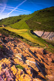 Basque Country. Zumaia Basque Country  country side view Spain Royalty Free Stock Image