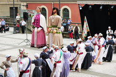 Basque dance Stock Photos