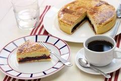 Basque fait maison de gâteau Photographie stock libre de droits