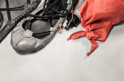 Basque feria summer festival - abarka shoes and red scarf symbol Stock Photography