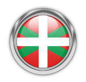 Basque Flag button Stock Photo